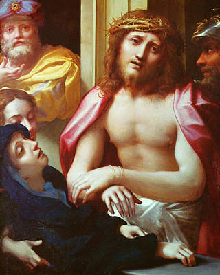 Ecce Homo Painting - Christ Presented To The People by Correggio