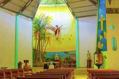 Photograph - Christ Saviour Parish Church On Isabela Island In Galapagos by Marek Poplawski