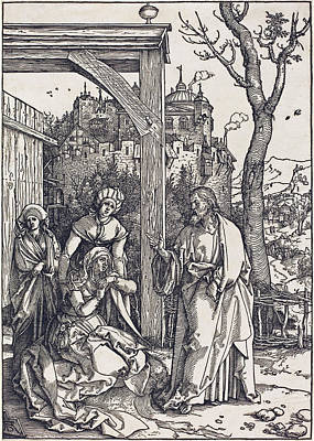 Drawing - Christ Taking Leave From His Mother by Albrecht Durer