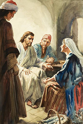 Christ Talking Art Print