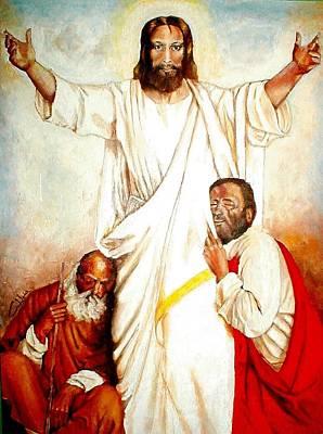 Christ The Healer Art Print by G Cuffia