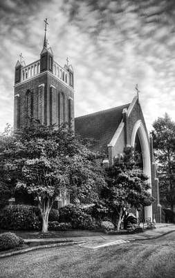 Photograph - Christ The King Church V2 Bw by Michael Thomas