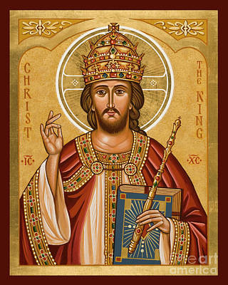Painting - Christ The King - Jcctk by Joan Cole