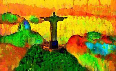 Christ The Redeemer In Rio 1 - Pa Art Print