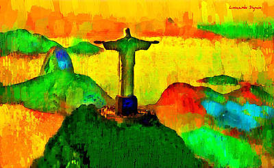 Christ The Redeemer In Rio 2 - Pa Art Print