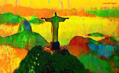 Bread Painting - Christ The Redeemer In Rio 3 - Pa by Leonardo Digenio