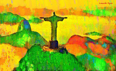Christ The Redeemer In Rio 5 - Da Art Print