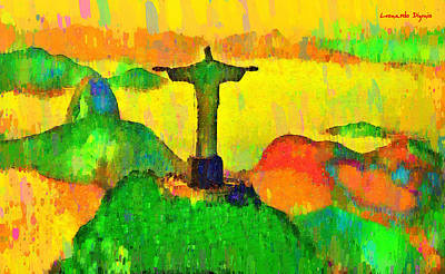 Christ The Redeemer In Rio 6 - Pa Art Print