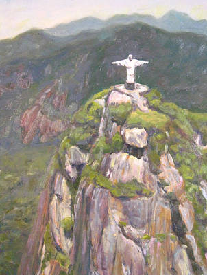 Painting - Christ The Redeemer by Robie Benve