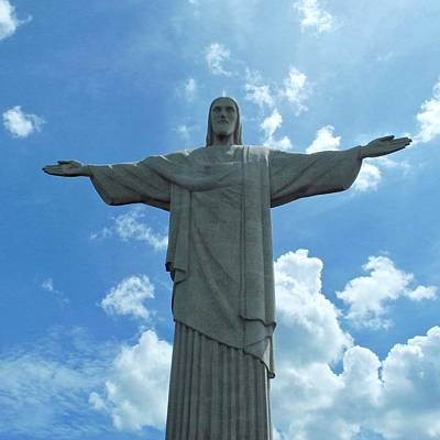 Photograph - Christ The Redeemer Statue by Kirsten Giving