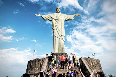 Photograph - Christ The Redeemer Statue by Pravine Chester