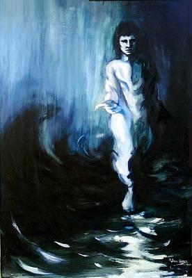 Christ Walking On The Water Art Print by Jill Baker