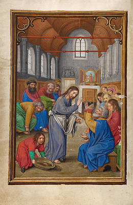 Catholic For Sale Painting - Christ Washing The Apostles' Feet by Simon Bening