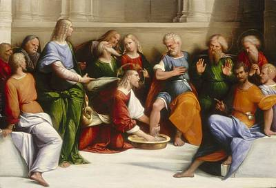 Of Our House Painting - Christ Washing The Disciples' Feet by Garofalo