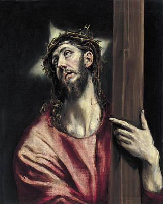 Cross Painting - Christ With The Cross by El Greco