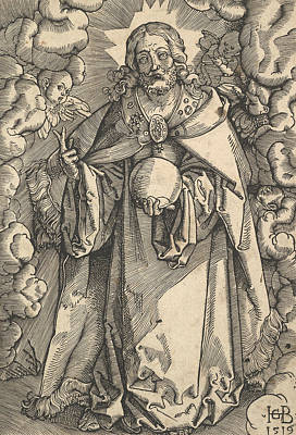 Relief - Christ With The Orb Of The World In His Left Hand by Hans Baldung Grien
