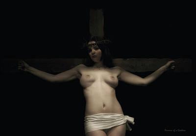 Female Christ Photograph - Christa Portrait by Ramon Martinez