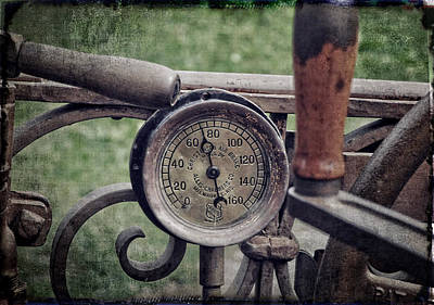 Photograph - Christensen Air Brake Gauge by Mike Martin