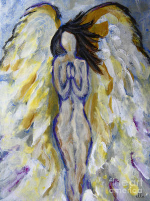 Painting - Christian Art - Ministering Angel by Ella Kaye Dickey