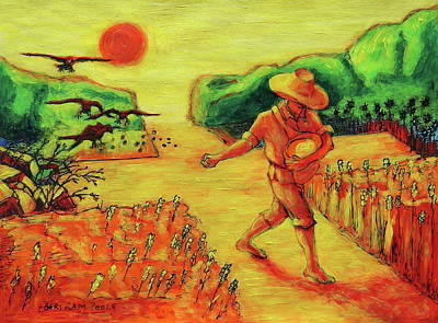 Painting - Christian Art Parable Of The Sower Artwork T Bertram Poole by Thomas Bertram POOLE