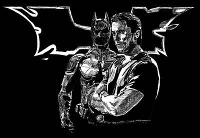 Christian Bale And The Dark Knight Rises Art Print