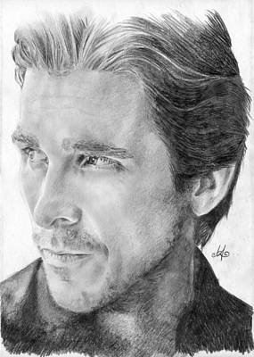 The Dark Knight Drawing - Christian Bale by Bianca Ferrando