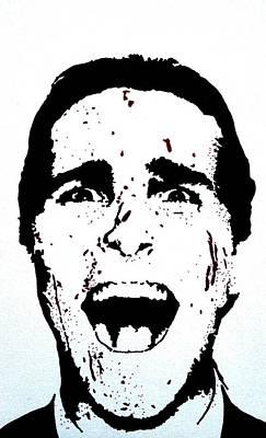 Sharpie Art Drawing - Christian Bale by Deborah Lepor