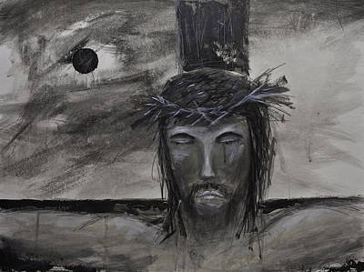 Painting - Christian Jesus Acrylic Painting On Fine Art Paper by Gray  Artus