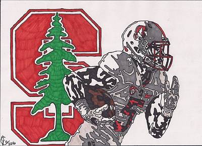 Drawing - Christian Mccaffery 2 by Jeremiah Colley