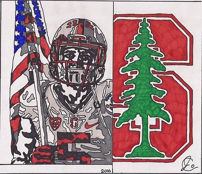 Drawing - Christian Mccaffery by Jeremiah Colley