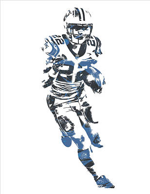Mixed Media - Christian Mccaffrey Carolina Panthers Pixel Art 1 by Joe Hamilton