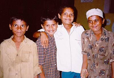 Photograph - Christian- Muslim - Hindu Cricket Buddies by Sherry Oliver