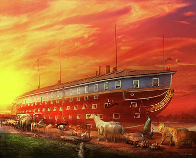 Photograph - Christian - Noah's Ark - The Beginning by Mike Savad