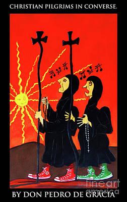 Christian Pilgrims In Converse Art Print