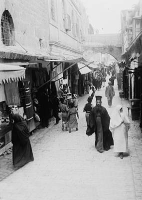 Photograph - Christian Quarter Street 1915 by Munir Alawi