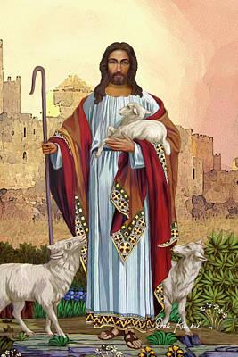 Jesus Painting - Christian Religious Art Of Jesus Paintings The Good Shepherd by Dale Kunkel Art