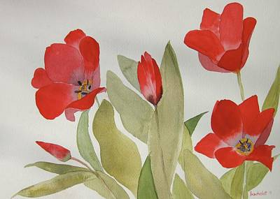 Wall Art - Painting - Christiane's Tulips by Dominique Bachelet