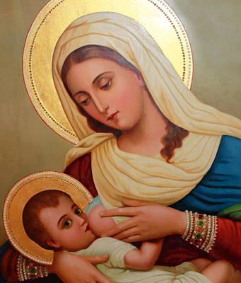 Christianity - Baby Jesus Art Print by Munir Alawi
