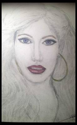 Drawing - Christina Aguilera by Dayna Winters