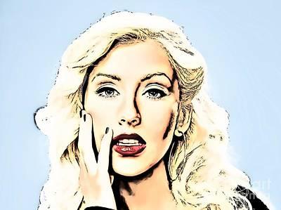 Christina Aguilera Painting - Christina Aguilera by Ez Art