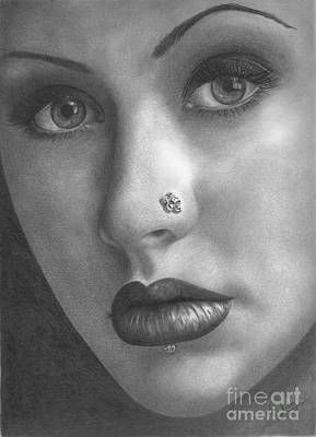 Drawing - Christina Aguilera by Karen Townsend
