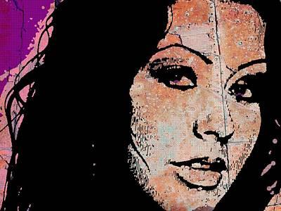 Christina Aguilera Painting - Christina Aguilera Rusted by Otis Porritt