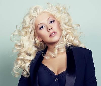 Portraits Digital Art - Christina Aguilera by Super Lovely