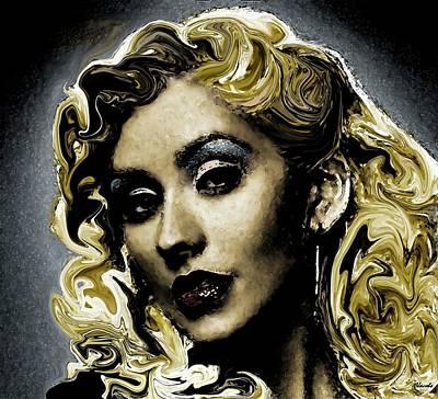 Christina Aguilera Painting - Christina by Carole Jacobs