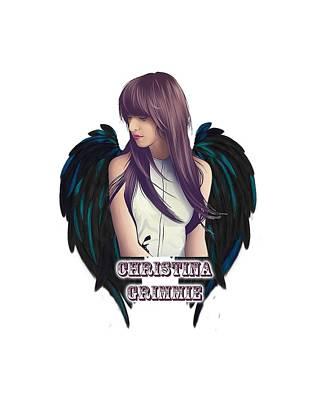 Christina Digital Art - Christina Grimmie by Ricky Andre