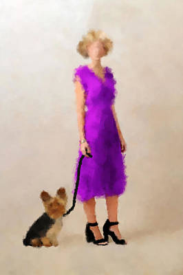 Puppy Digital Art - Christina by Nancy Levan