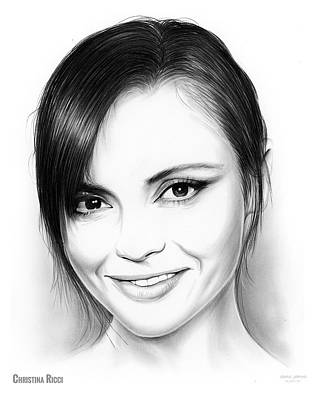 Christina Drawing - Christina Ricci by Greg Joens