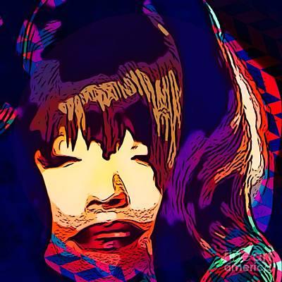 Christina Digital Art - Christina Sleeping by Caroline Gilmore