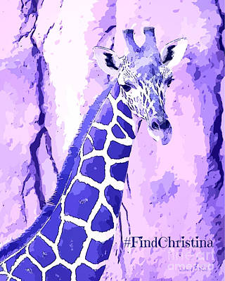 Photograph - Christina's Giraffe by Robert ONeil