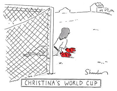 Drawing - Christinas World Cup by Danny Shanahan